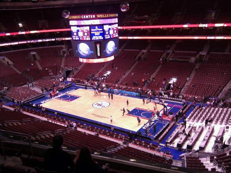 Seating view for Wells Fargo Center Section 216 Row 6 Seat 6