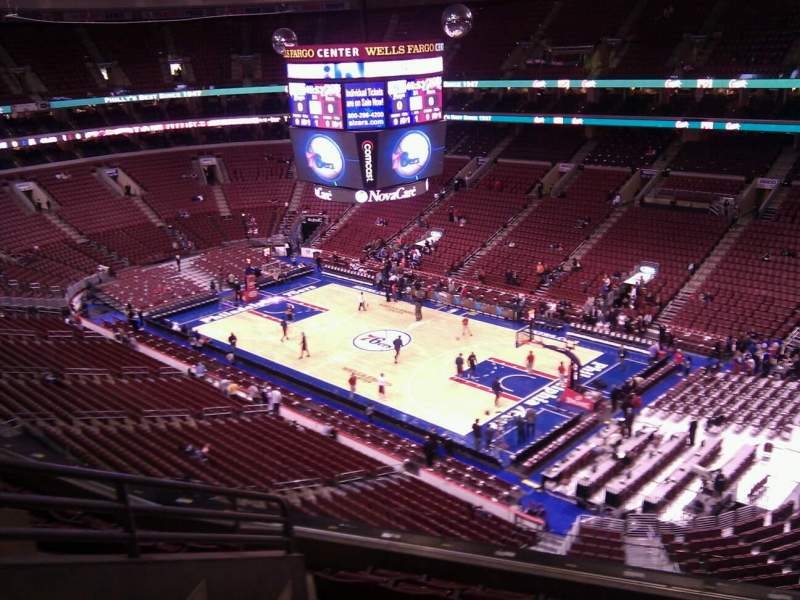 Seating view for Wells Fargo Center Section 217 Row 8 Seat 2