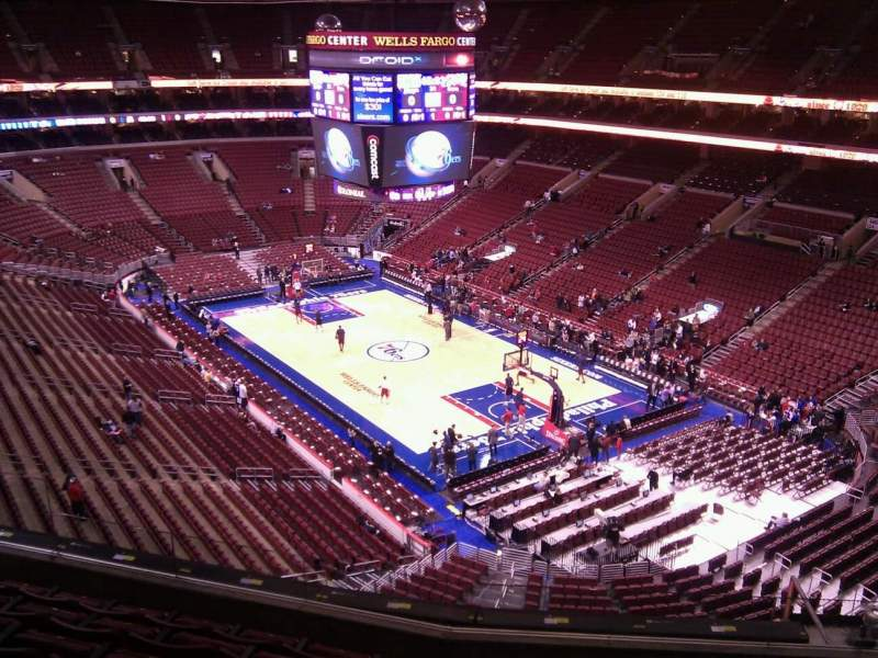 Seating view for Wells Fargo Center Section 218 Row 7 Seat 7