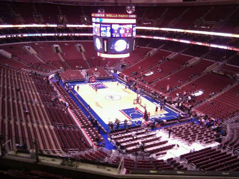 Seating view for Wells Fargo Center Section 217a Row 7 Seat 4