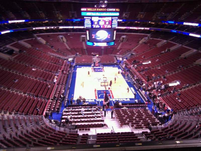 Seating view for Wells Fargo Center Section 219 Row 6 Seat 7