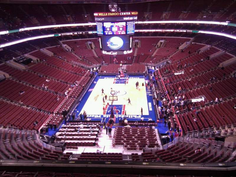 Seating view for Wells Fargo Center Section 219a Row 8 Seat 10