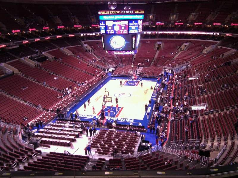 Seating view for Wells Fargo Center Section 220 Row 6 Seat 4