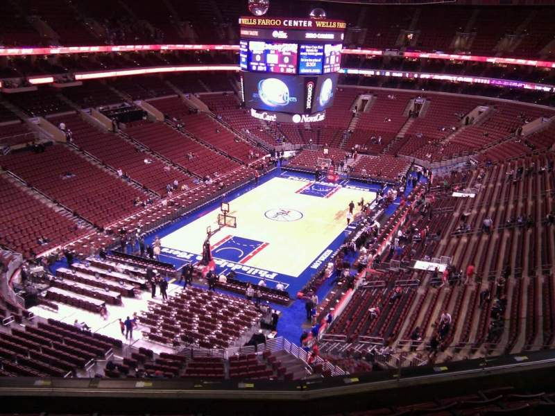 Seating view for Wells Fargo Center Section 221 Row 6 Seat 5