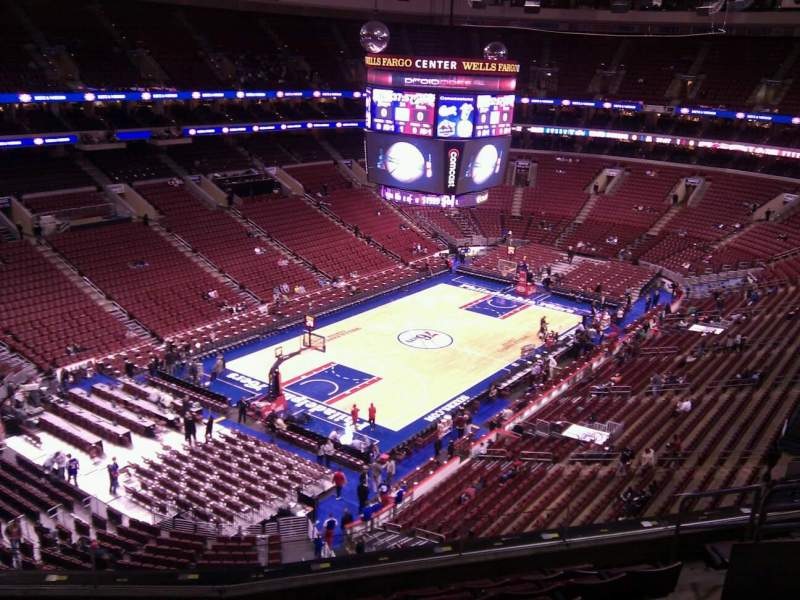 Seating view for Wells Fargo Center Section 222 Row 6 Seat 7