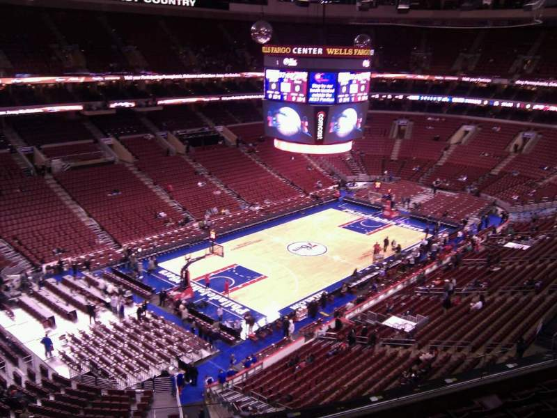 Seating view for Wells Fargo Center Section 223 Row 6 Seat 1