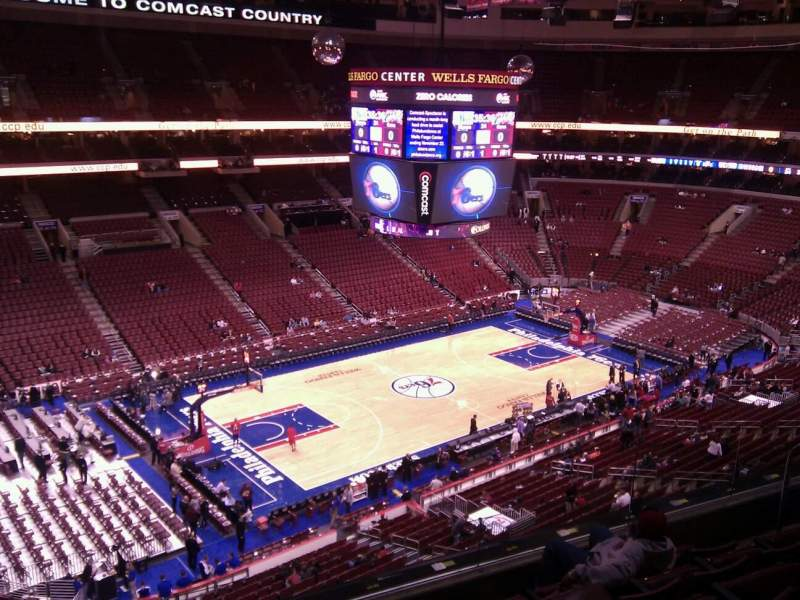 Seating view for Wells Fargo Center Section 222a Row 6 Seat 3