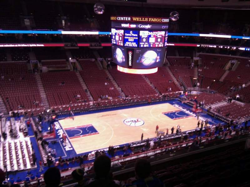 Seating view for Wells Fargo Center Section 223 Row 7 Seat 3