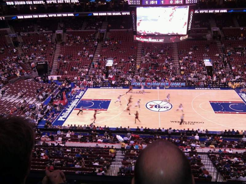 Seating view for Wells Fargo Center Section 213 Row 2 Seat 5