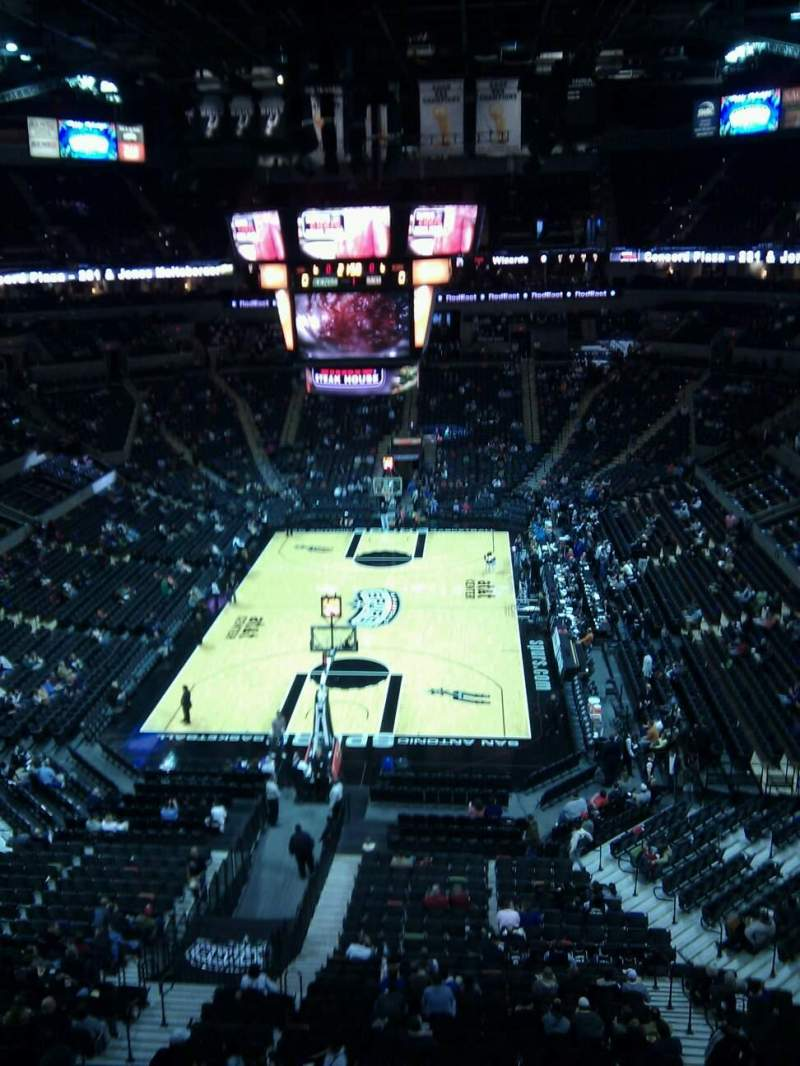 Seating view for AT&T Center Section standing lvl2