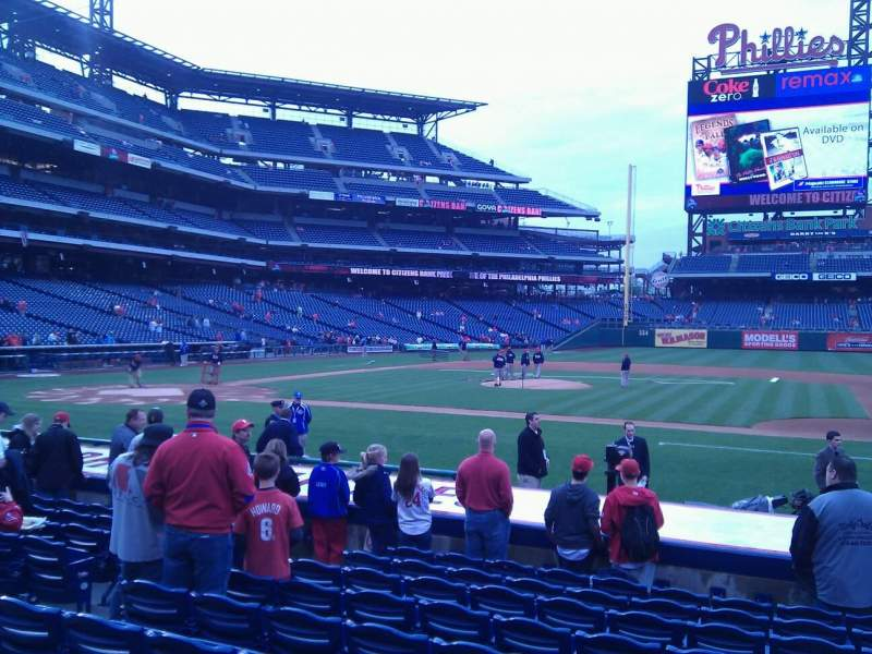 Seating view for Citizens Bank Park Section 116 Row 13 Seat 11