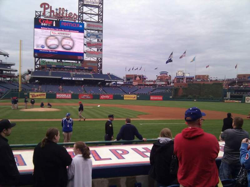 Seating view for Citizens Bank Park Section 117 Row 6 Seat 13