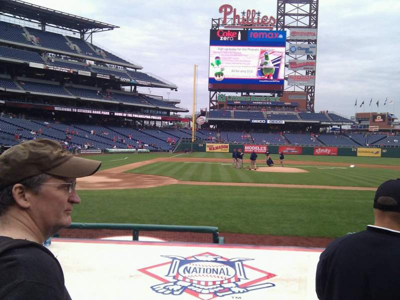 Seating view for Citizens Bank Park Section 118 Row 6 Seat 6