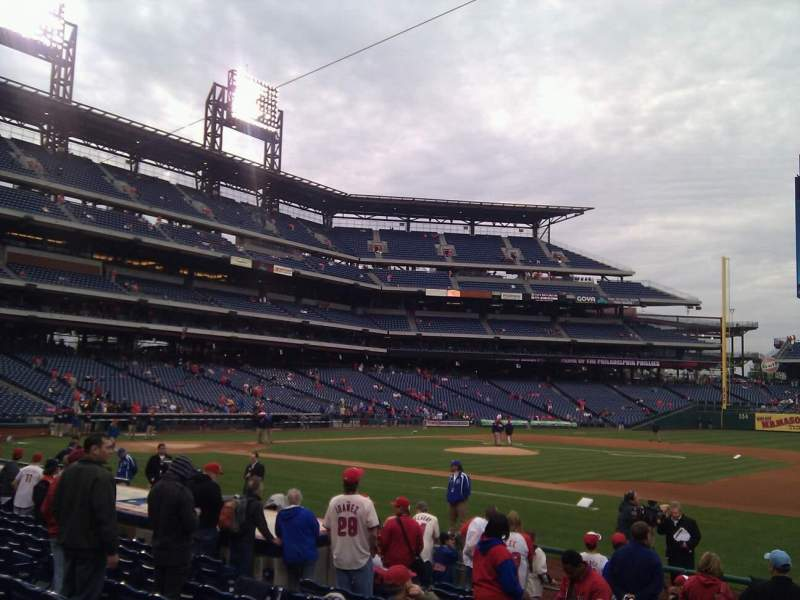 Seating view for Citizens Bank Park Section 115 Row 12 Seat 6