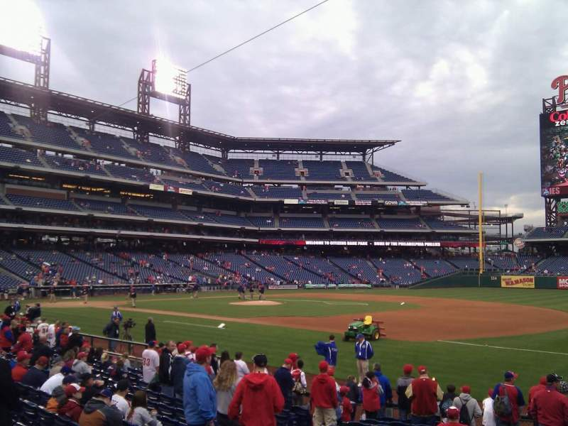 Seating view for Citizens Bank Park Section 113 Row 16 Seat 6