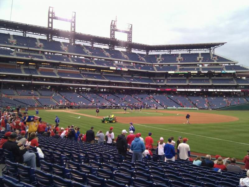 Seating view for Citizens Bank Park Section 111 Row 16 Seat 4