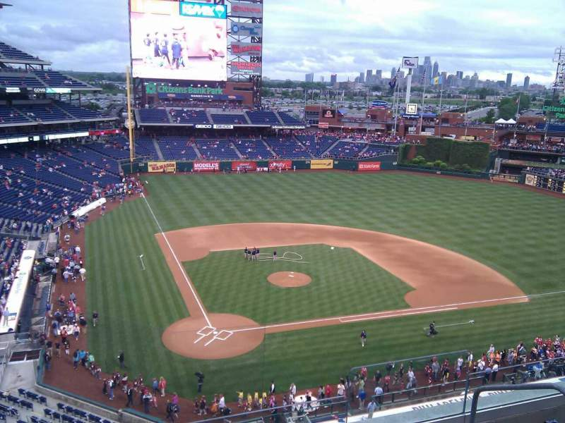 Seating view for Citizens Bank Park Section 318 Row 5 Seat 4
