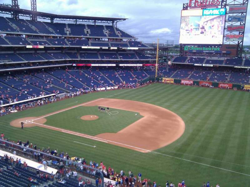 Seating view for Citizens Bank Park Section 312 Row 2 Seat 1