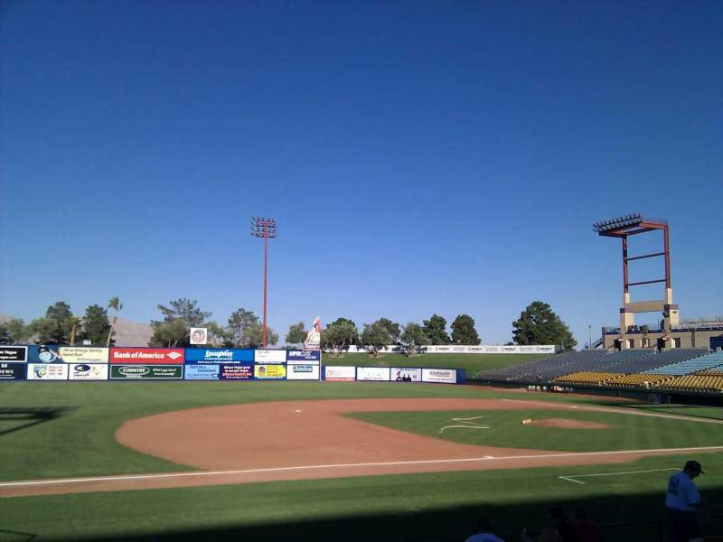 Seating view for Cashman Field Section 5 Row k Seat 16