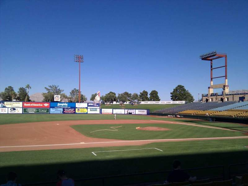 Seating view for Cashman Field Section 6 Row h Seat 8