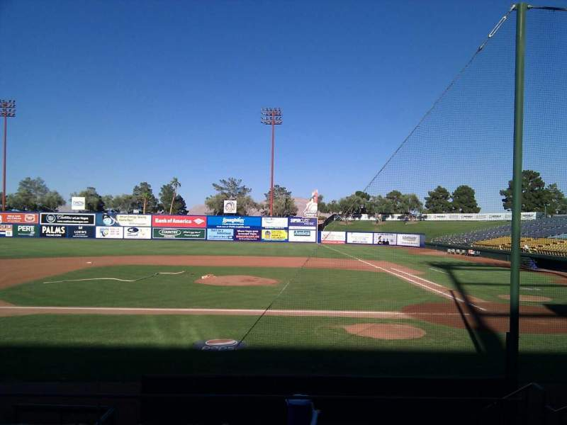 Seating view for Cashman Field Section 8 Row h Seat 6