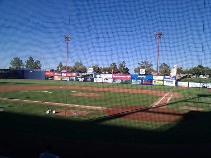 Seating view for Cashman Field Section 10 Row d Seat 6