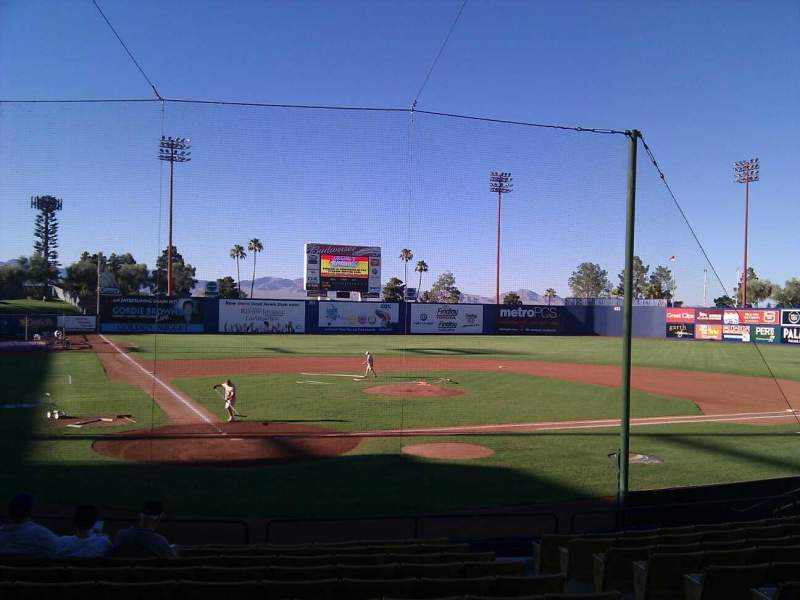 Seating view for Cashman Field Section 14 Row m Seat 8