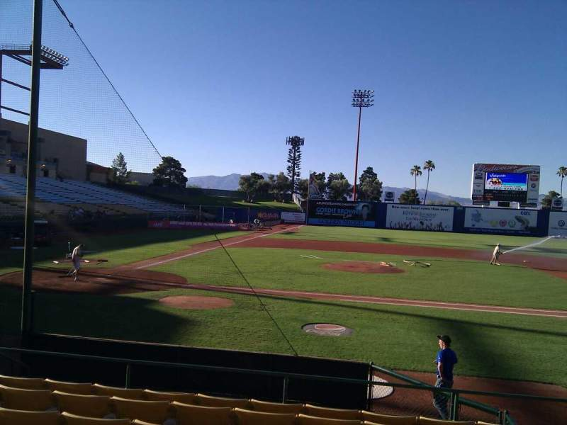 Seating view for Cashman Field Section 16 Row h Seat 11
