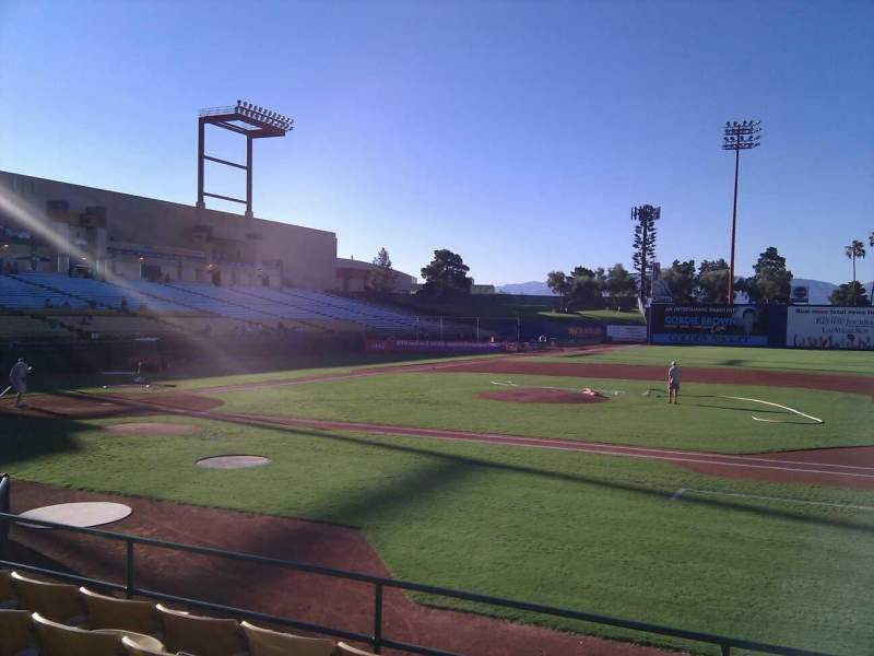 Seating view for Cashman Field Section 17 Row f Seat 13