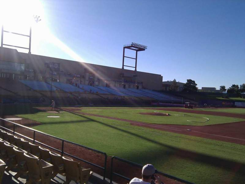 Seating view for Cashman Field Section 19 Row e Seat 5