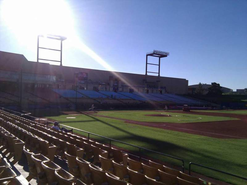 Seating view for Cashman Field Section 20 Row h Seat 12