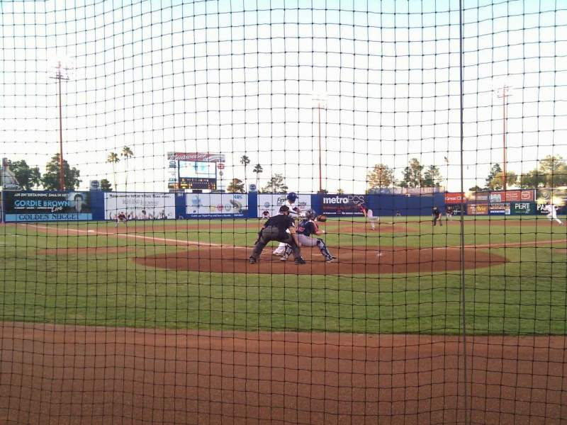 Seating view for Cashman Field Section C Row 2 Seat 3