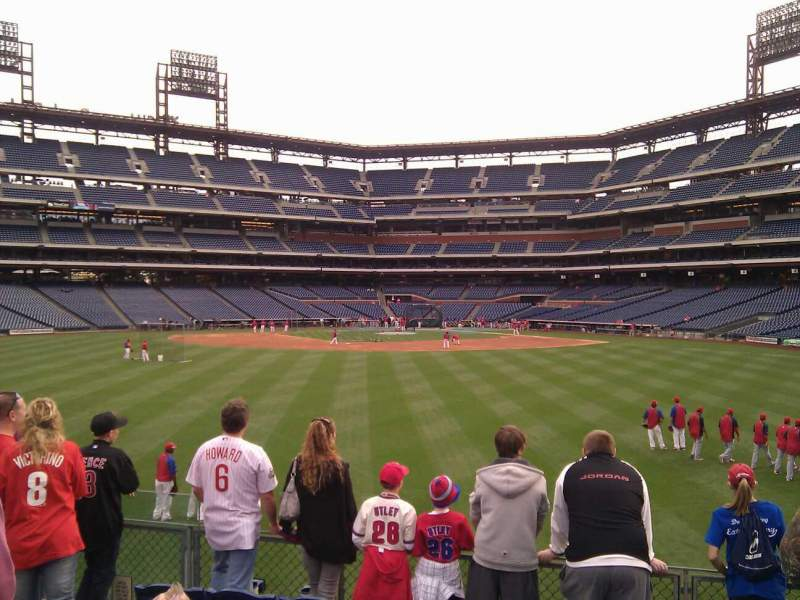 Seating view for Citizens Bank Park Section 147 Row 6 Seat 14