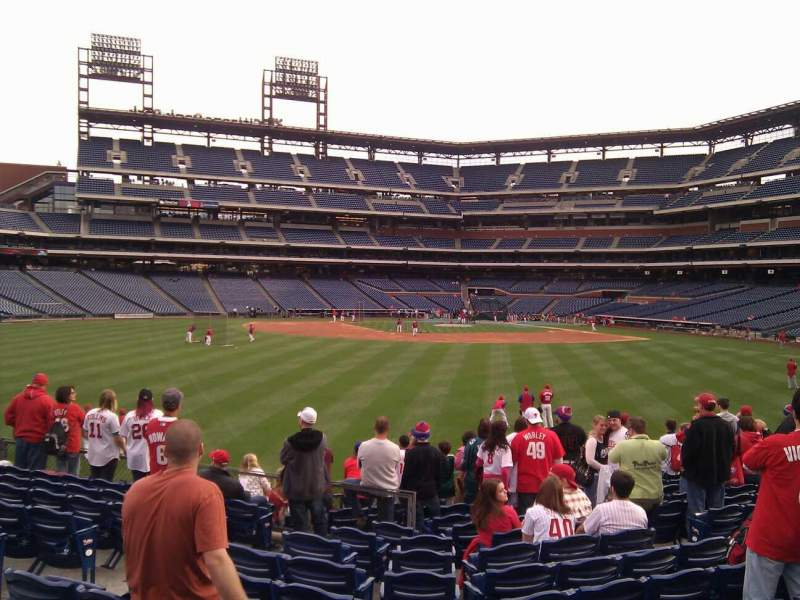 Seating view for Citizens Bank Park Section 146 Row 13 Seat 9