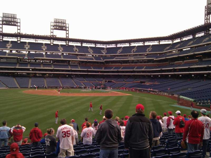 Seating view for Citizens Bank Park Section 144 Row 14 Seat 9