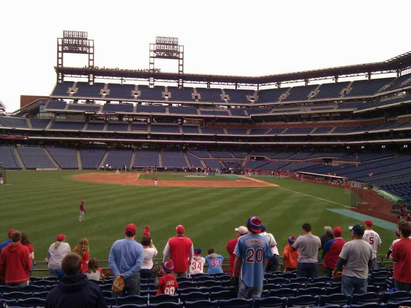 Seating view for Citizens Bank Park Section 144 Row 13 Seat 9