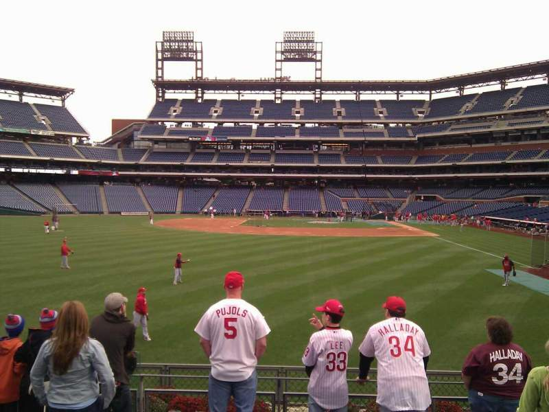 Seating view for Citizens Bank Park Section 142 Row 7 Seat 16