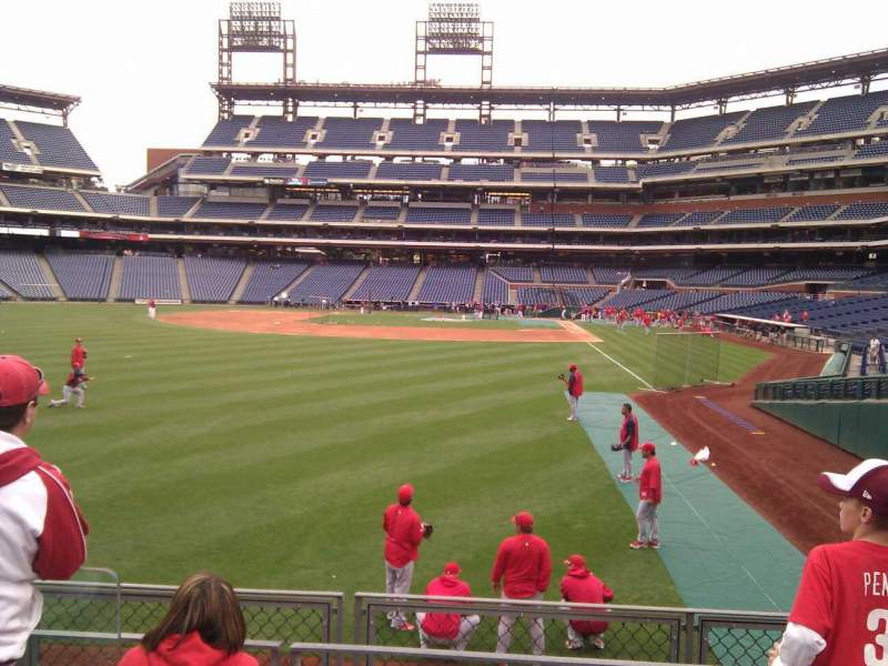 Seating view for Citizens Bank Park Section 141 Row 4 Seat 6
