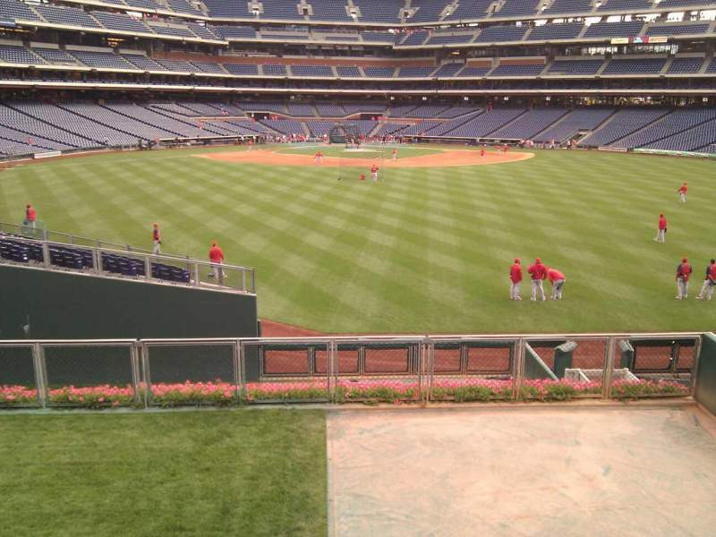 Seating view for Citizens Bank Park Section Relievers Row 1