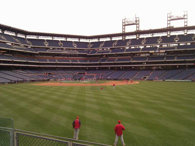 Seating view for Citizens Bank Park Section 101 Row 4 Seat 9