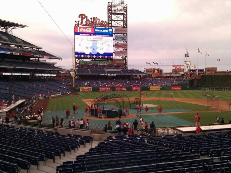 Seating view for Citizens Bank Park Section 121 Row 25 Seat 1