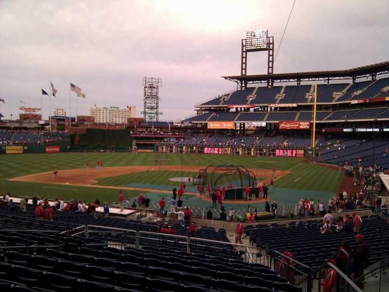 Seating view for Citizens Bank Park Section 126 Row 32 Seat 5