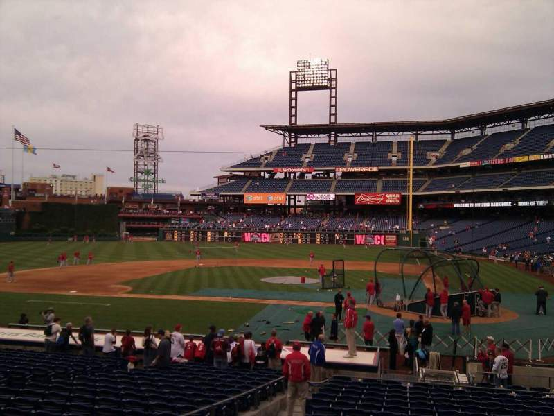 Seating view for Citizens Bank Park Section 128 Row 21 Seat 3