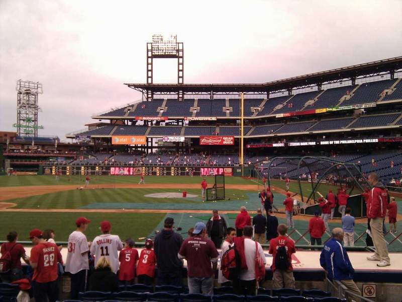 Seating view for Citizens Bank Park Section 129 Row 10 Seat 4