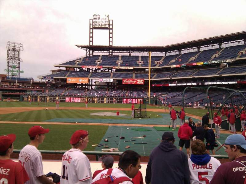 Seating view for Citizens Bank Park Section 129 Row 4 Seat 7