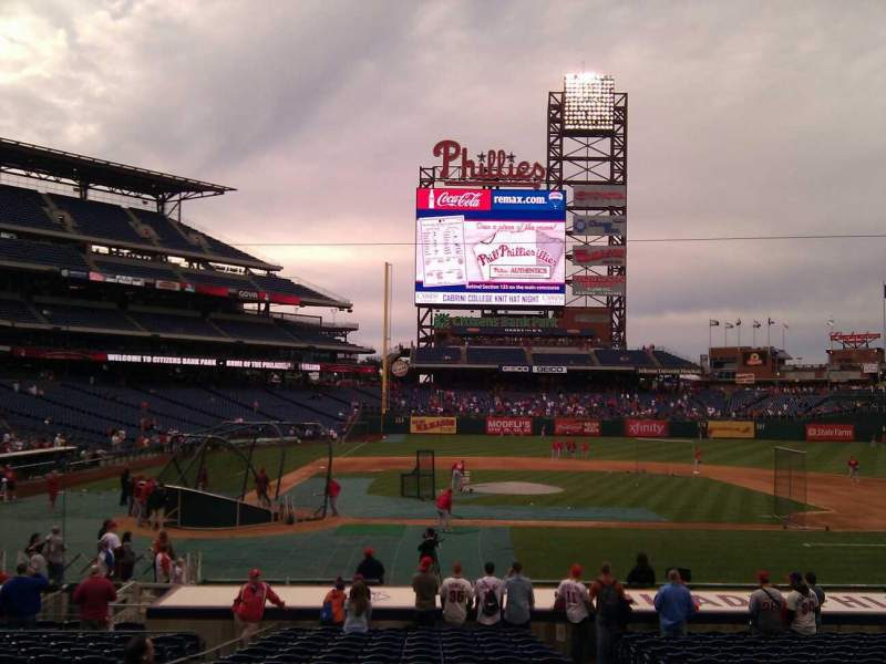 Seating view for Citizens Bank Park Section 118 Row 19 Seat 4