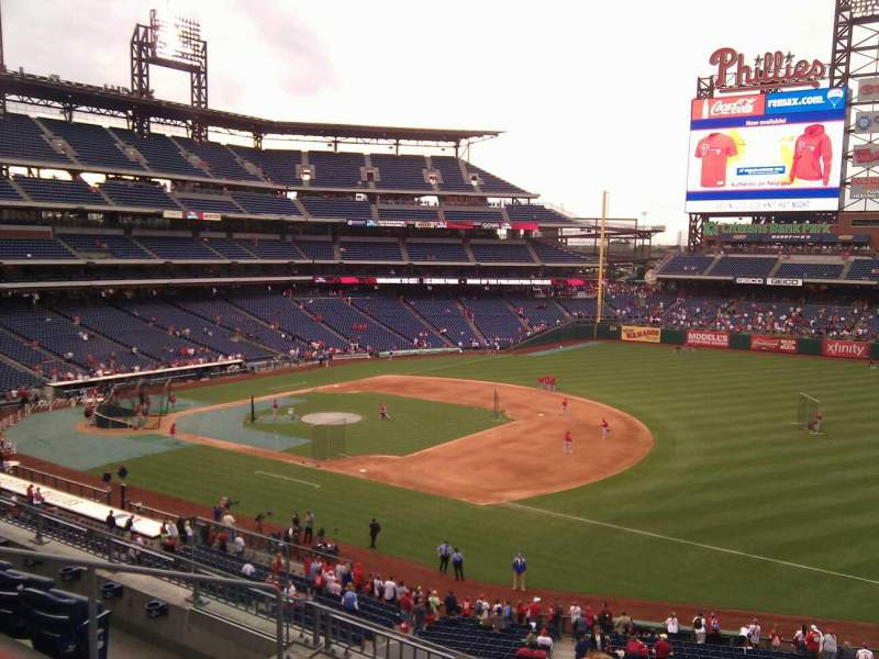 Seating view for Citizens Bank Park Section 211 Row 5 Seat 5