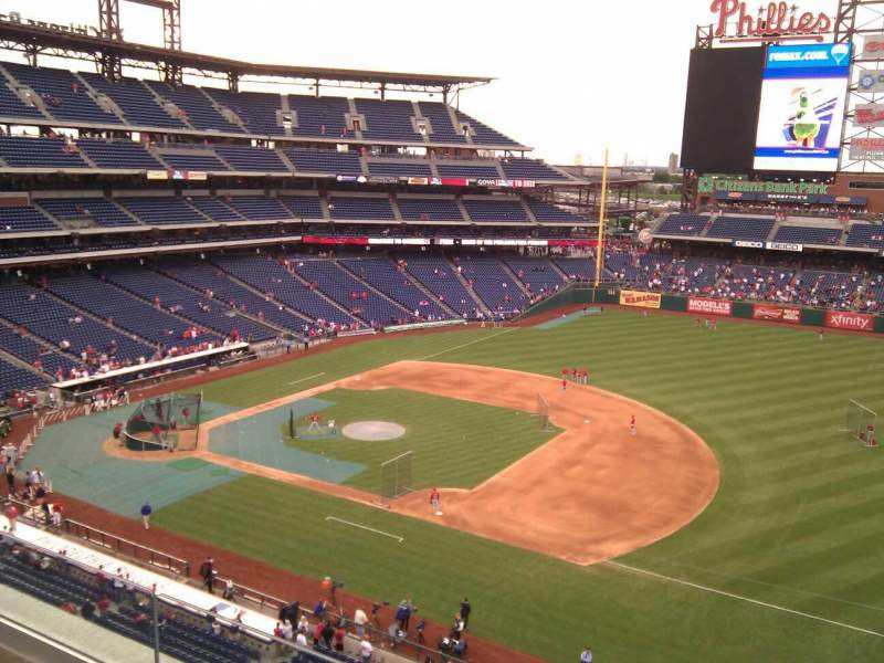 Seating view for Citizens Bank Park Section 312 Row 3 Seat 1