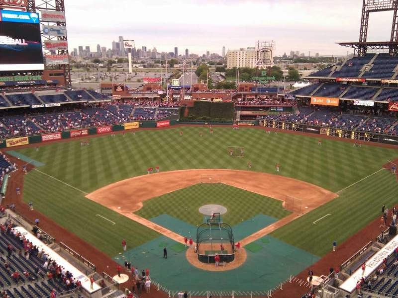 Seating view for Citizens Bank Park Section 421 Row 3 Seat 4