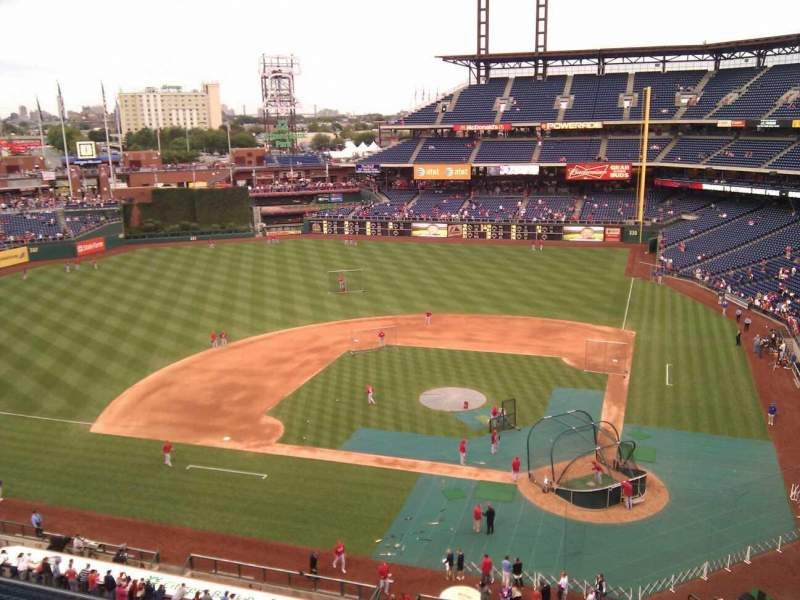 Seating view for Citizens Bank Park Section 324 Row 3 Seat 10